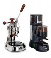 La Pavoni Chrome Combo set: Handhebel Espressomaschine La Pavoni Professional PL, La Pavoni...