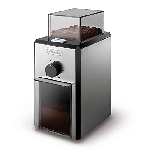 De'Longhi KG 89 Professionelle Kaffeemühle für bis zu 12 Tassen, Kunststoffgehäuse, silber