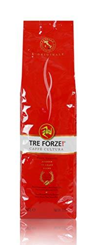 TRE FORZE! Espresso Caffè - Bohnen 1kg - Traditionelles Rösten über Olivenholzfeuer In Handarbeit...
