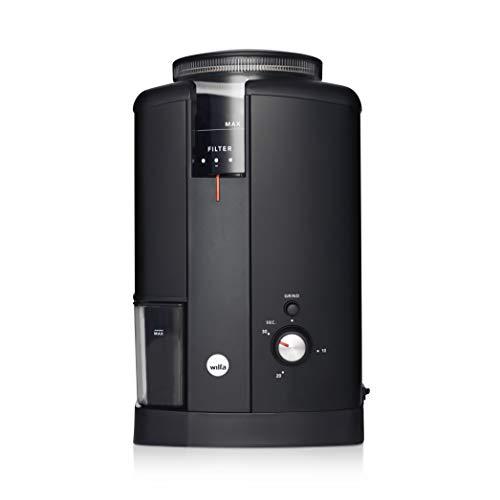 Wilfa SVART AROMA Kaffeemühle - Bohnenbehälter mit einer Kapazität von 250gr, 130 Watt, konische...
