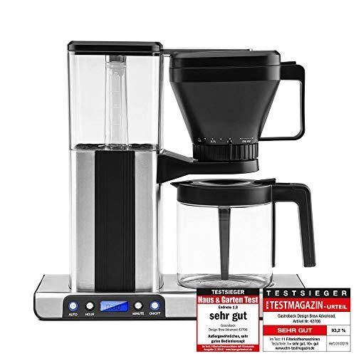 GASTROBACK #42706 Design Brew Advanced Filterkaffeemaschine, schnelles Aufbrühen: 1,25 Liter (ca.10...