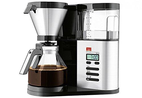 Melitta 1012-03 AromaElegance DeLuxe Filter-Kaffeemaschine, Schwarz/Edelstahl