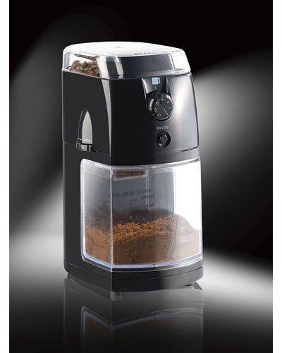Rosenstein & Söhne Kaffeemahlwerk: Elektrische Kaffeemühle mit hochwertigem Scheibenmahlwerk...