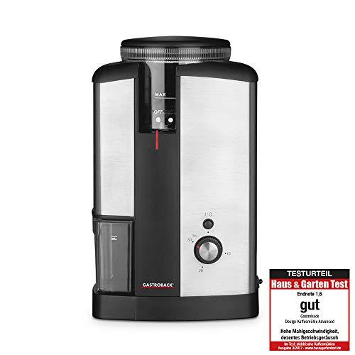 Gastroback 42602 Design Kaffeemühle Advanced, Edelstahl-Hochleistungsmahlwerk mit 32...
