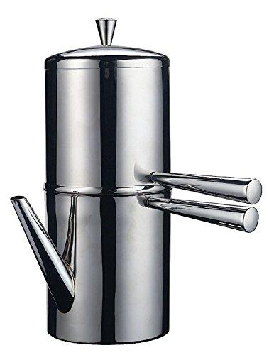 Ilsa Napoletana Kaffeemaschine, Edelstahl, Silber, für 3 Tassen