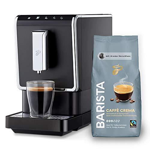 Tchibo Kaffee Vollautomat Esperto Caffè 1.1 (19 bar, 1470 Watt), Anthrazit (inkl. 1Kg Barista...