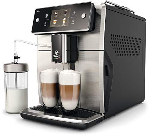Saeco SM7683/10 Xelsis Kaffeevollautomat 15 Kaffeespezialitäten (Touchscreen, 6 Benutzerprofile),...
