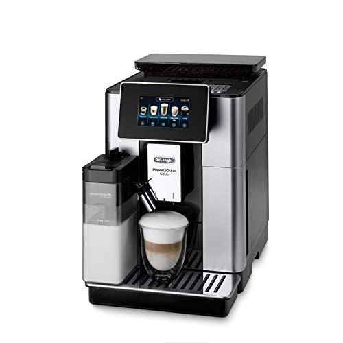 De'Longhi PrimaDonna Soul ECAM 612.55.SB Kaffeevollautomat mit Milchsystem & Bean Adapt Technologie,...