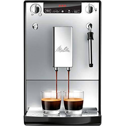 Melitta Caffeo Solo & Milk E953-202, Schlanker Kaffeevollautomat mit Milchschaumdüse, Silber