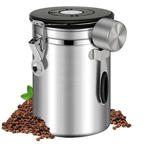 Kaffeedose Luftdicht 500g Kaffeebehälter Edelstahl Aromadose Vorratsdose Kaffeebohnenbehälter...