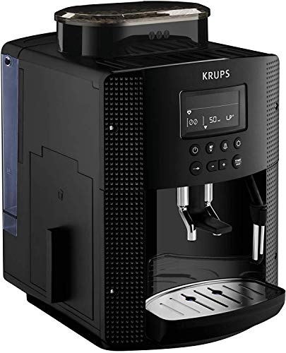 Krups EA81M8 Roma Kaffeevollautomat, 1.7L, 3 Temperaturstufen, 3 Mahlwerkstexturen, Schwarz...