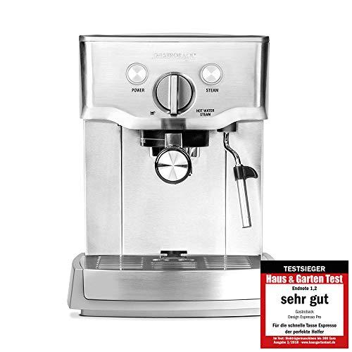 Gastroback 42709 Design Espresso Pro, Espressomaschine mit Siebträger, Milchaufschäumdüse, 15...