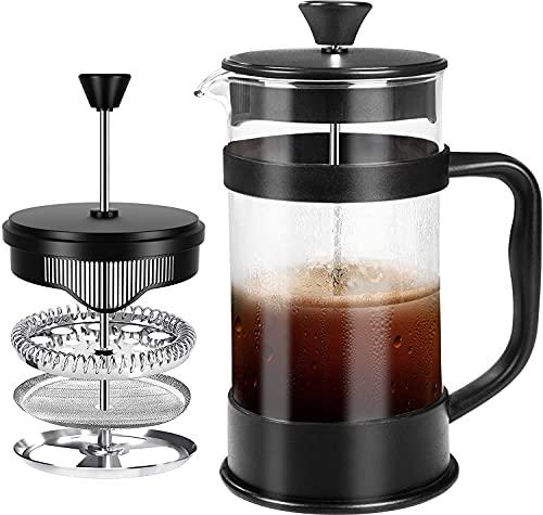 KICHLY French Coffee Press 34 Oz - 1000 ml (4 Kaffeebecher / 8 Kaffeetassen) - Espressomaschine mit...