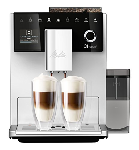 Melitta CI Touch F630-101 Kaffeevollautomat mit Milchbehälter | Flüsterleises Mahlwerk | One Touch...