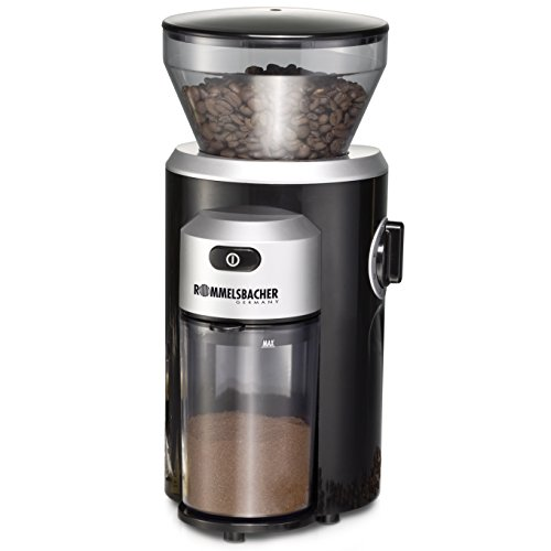 ROMMELSBACHER Kaffeemühle EKM 300 - Kegelmahlwerk aus Edelstahl, Mahlgrad in 12 Stufen,...
