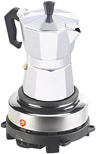 Rosenstein & Söhne Espresso Herdplatte: Elektrische Mini-Einzel-Kochplatte & Espresso-Kocher, 500...