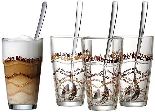 Ritzenhoff & Breker Latte Macchiato Gläser-Set, 4-Gläser und 4 Löffel