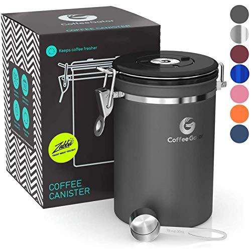 Coffee Gator-Edelstahl-Kaffeedose – Hält gemahlener Kaffee und Bohnen länger frisch –...