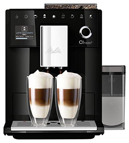 Melitta CI Touch F630-102 Kaffeevollautomat mit Milchbehälter | Flüsterleises Mahlwerk | One Touch...