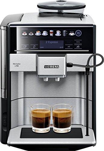 Siemens EQ.6 plus s700 Kaffeevollautomat TE657503DE, automatische Reinigung, Direktwahl, zwei Tassen...