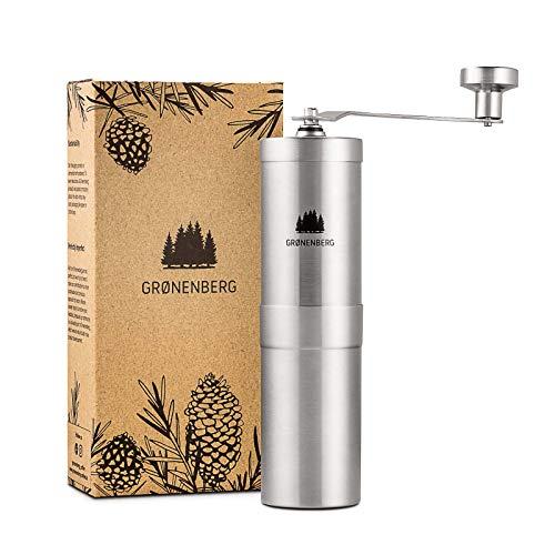 Groenenberg Kaffeemühle manuell mit Kegelmahlwerk | Kaffeemühle Hand - Handkaffeemühle aus...