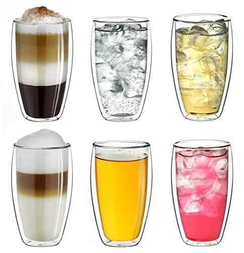 """Creano doppelwandiges Thermoglas 250ml """"DG-SH"""", Doppelwandglas auch für kleine Hände geeignet,..."""