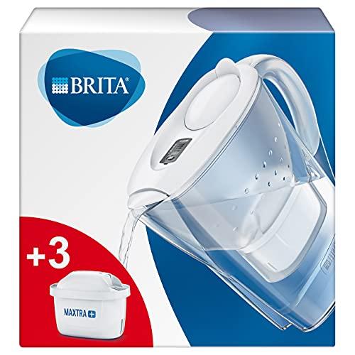 BRITA Wasserfilter Marella weiß inkl. 3 MAXTRA+ Filterkartuschen – BRITA Filter Starterpaket zur...