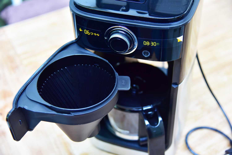 Kaffeemaschine mit Mahlwerk: Filter der Philips-HD7766