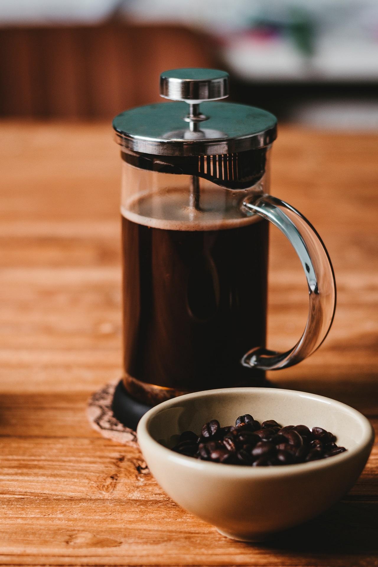 Der Aufbau eines French Press Kaffeebereiters ist simple.
