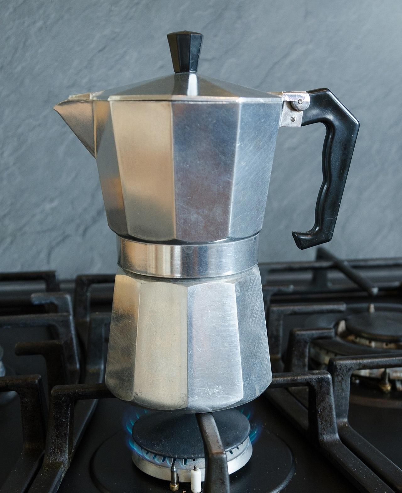 Der Aufbau eines Espressokochers ist einfach aber genial.