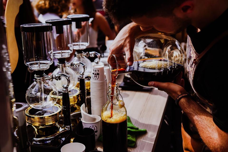 kalten Kaffee brühen